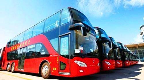 青岛双层观光巴士1线上行线路共设置了栈桥,鲁迅公园,南海路(汇泉