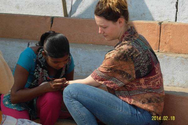 印度汉娜手绘太阳