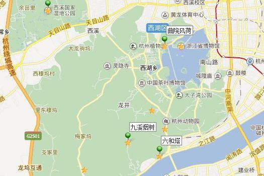 杭州虎跑公园地图
