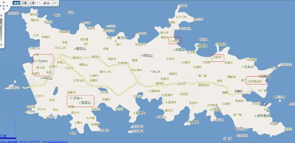 台湾景区手绘地图