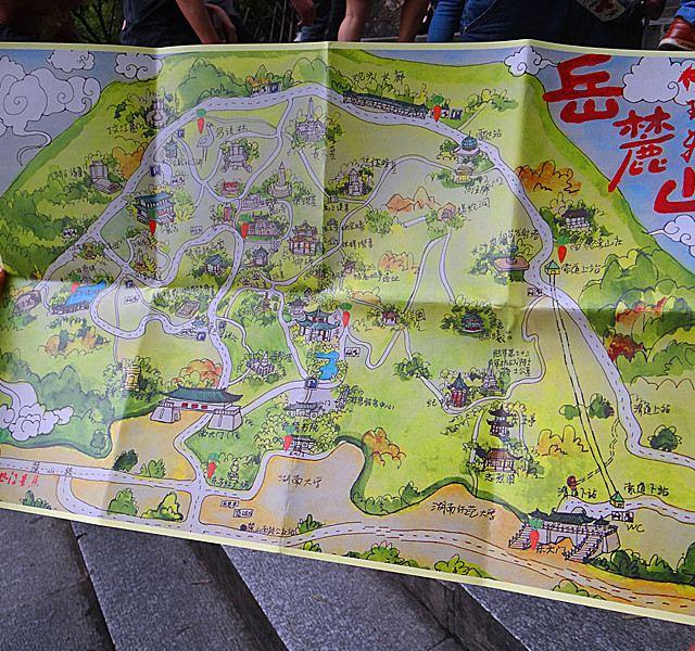 长沙大学城手绘地图