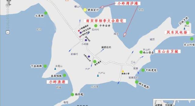 待定 和谁 查看 作者去过 (小岞旅游地图,引自网络,我稍加备注)  惠安