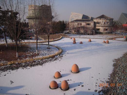 重庆路商业街 伪满洲国国务院旧址 桂林路商业街 红旗街商业区  雪景2