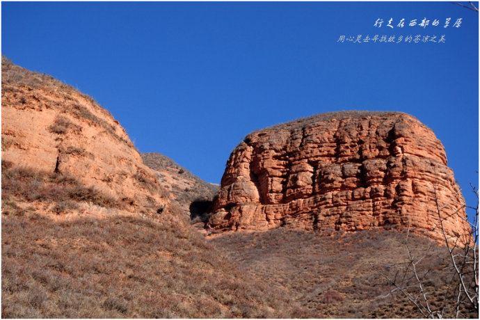 冬天的穿越.冶力关.徒步丹东游记-甘南幽谷攻攻略赤壁的图片