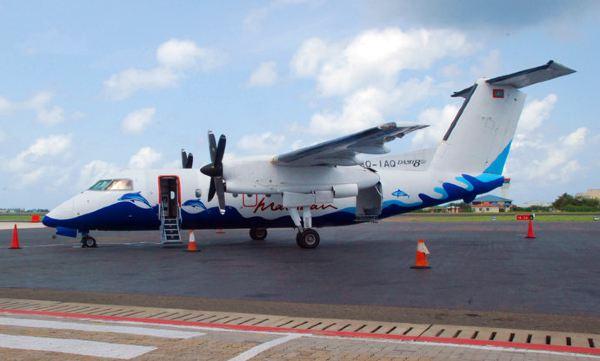 图注:马尔代夫的内陆飞机
