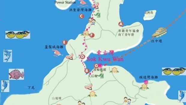 香港南丫岛自助游地图
