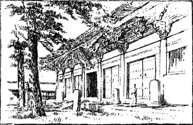 梁思成先生手绘的佛光寺
