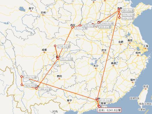 手绘珠海旅游路线图