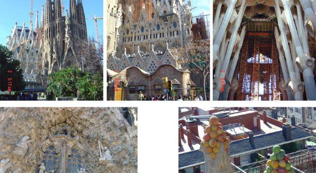 最明显的是教堂内支撑顶部的柱子,就和森林中的大树一样,柱子上还有