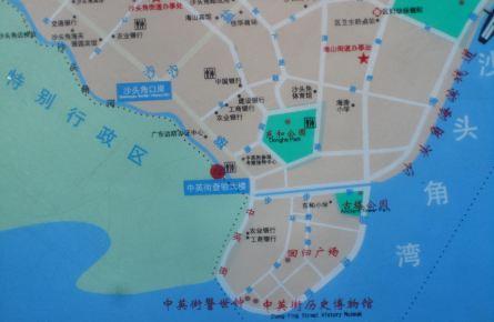 西关风情手绘地图
