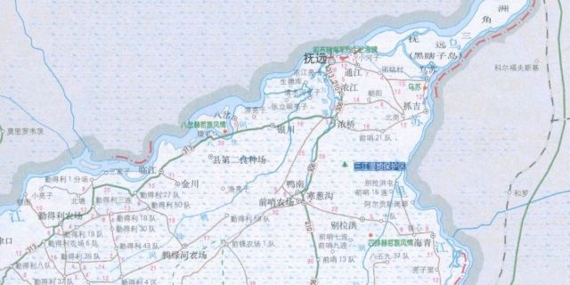 大杨树镇到阿荣旗地图