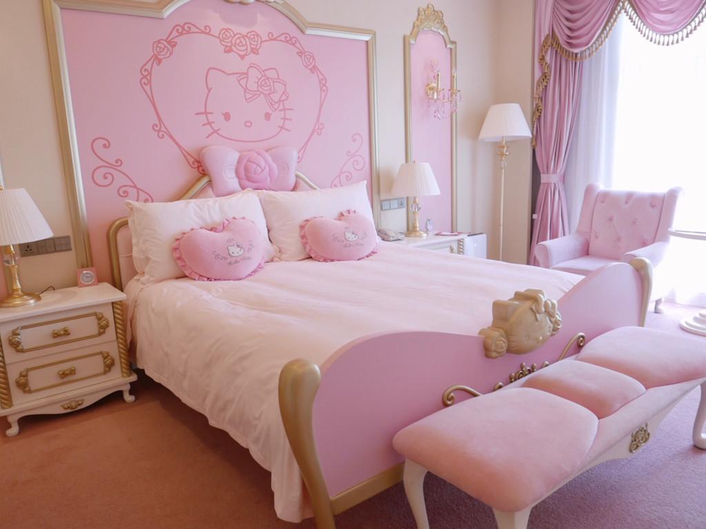 现代少女房间装修图片