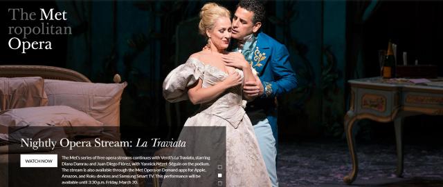 Free Live Stream: Covid 19 Virtual Concerts, Paris Opera Live Stream
