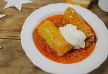 布达佩斯美食图片-甘蓝菜肉卷