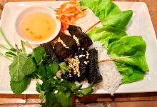 胡志明市美食图片-槟榔叶烤牛肉