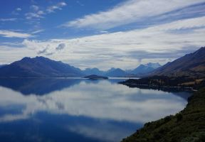 All Kinds of Blue, Such as Milky Blue, Azure Blue, Lazuli Blue, Etc., They Interpret the Lakes of New Zealand Incisively and Vividly.