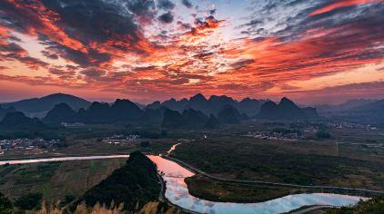 广东_清远英西峰林