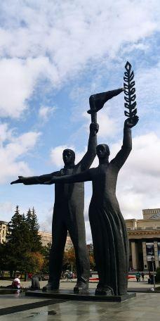 Mikhail Zuyev Statue-新西伯利亚-M28****2824