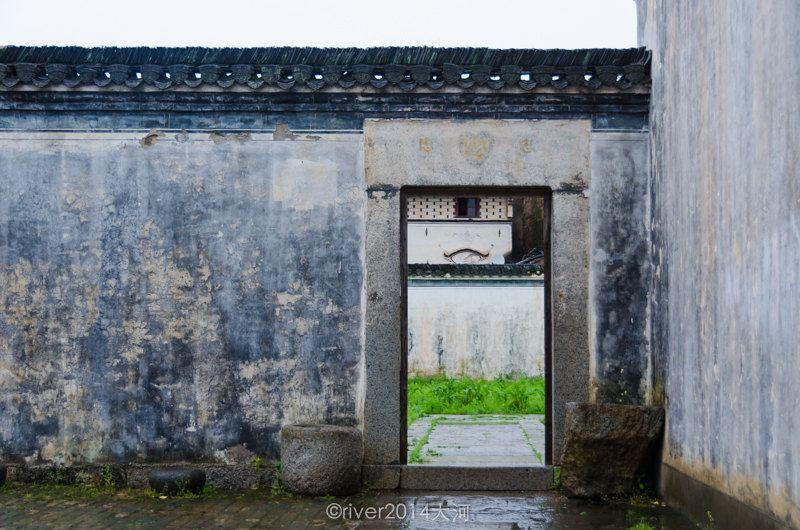 古建围墙大门效果图