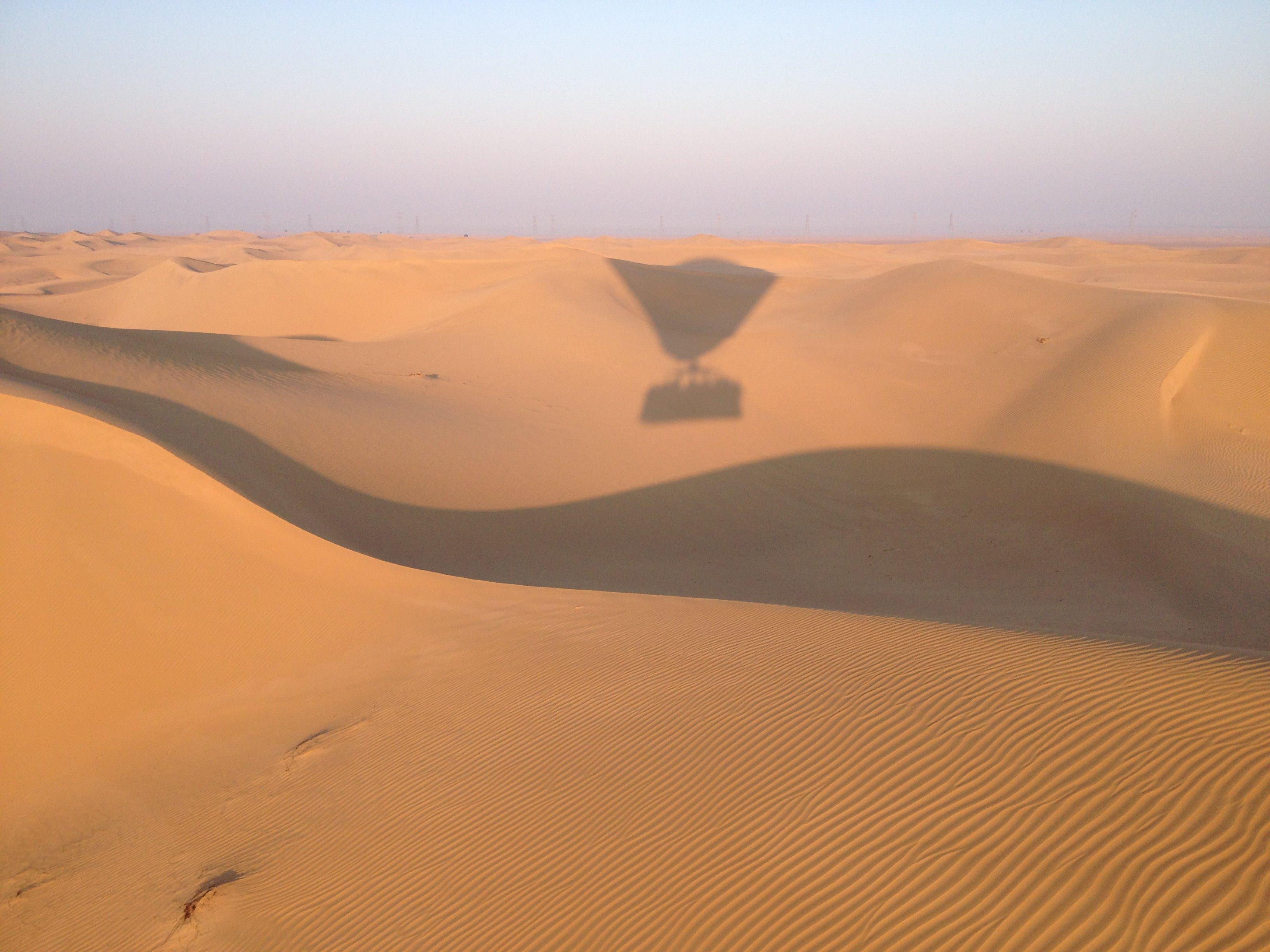 阿拉伯沙漠熱氣球圖片