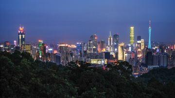 广东广州白云山夜景