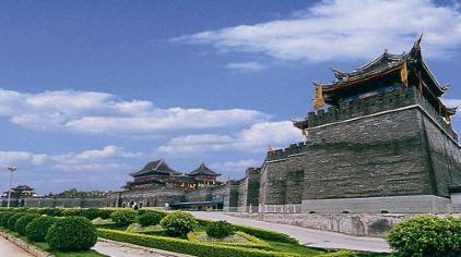 中央电视台南海影视城·风景·天朝宫殿01·城门楼01·标志性建筑(白云)B