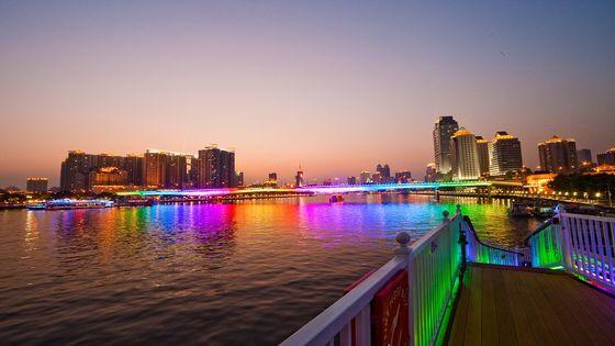 珠江夜遊大沙頭碼頭(藍海豚遊船)通票