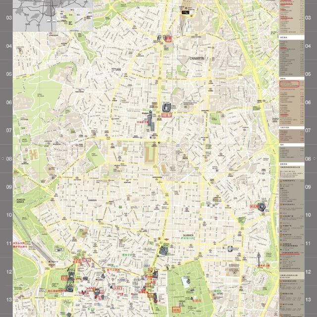 马德里市区地图
