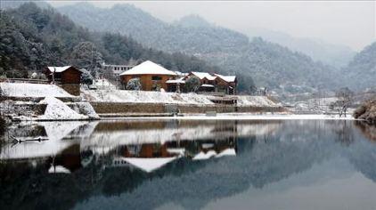 天峡山庄雪景